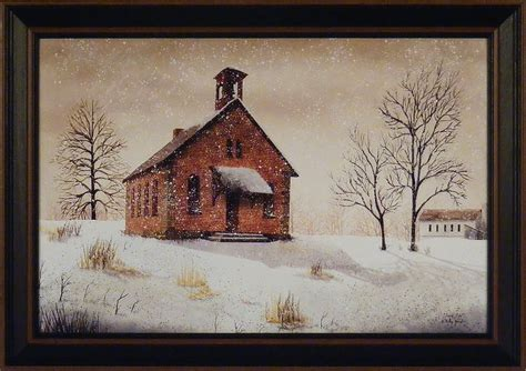 house prints snow day by billy jacobs 15x21 framed print winter country