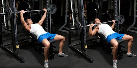bench press using smith machine incline smith machine bench press weight training