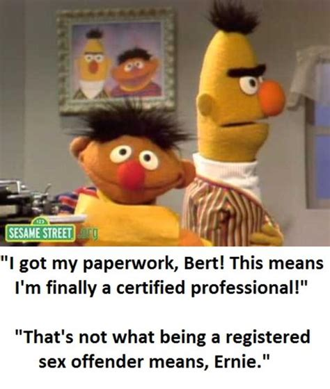 Ernie Meme - well at least ernie tried at something bertstrips