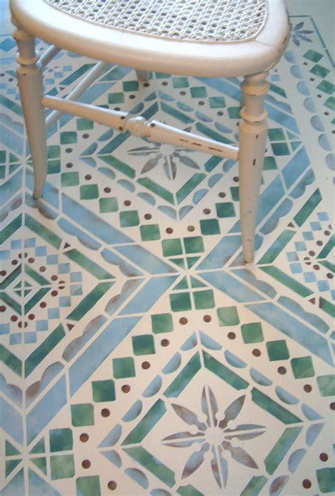 tile floor template mediterranean floor stencil 1 4 rotating repeat henny