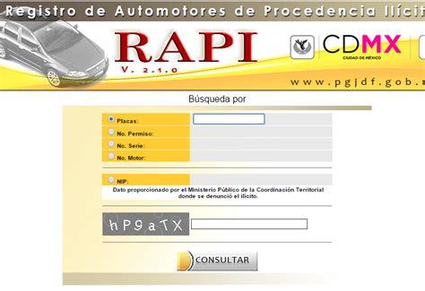 gob mxconsulta rapi pgjdf gob mx consulta placas de vehiculos robados