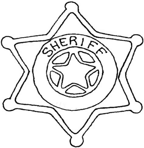 pin sheriff star coloring page pages on pinterest