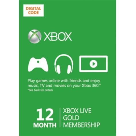xbox live gold 12 month codes
