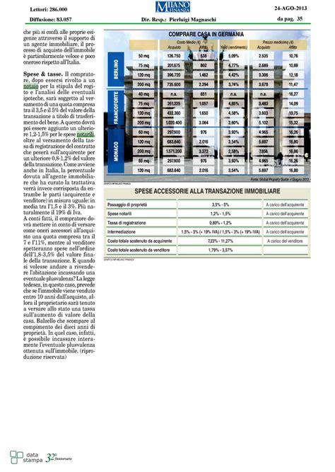 costo notaio acquisto casa costo notaio italiano e tedesco un confronto