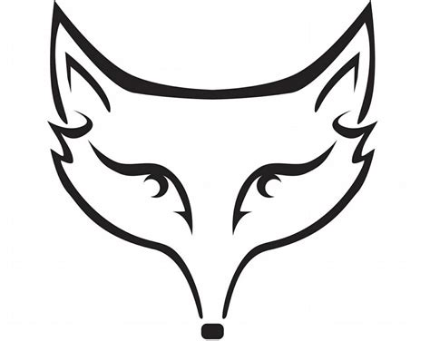 coloring page of a fox face fox head coloring page