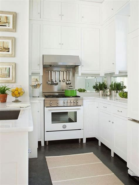 mirrored backsplash in kitchen mirrored kitchen backsplash transitional kitchen bhg