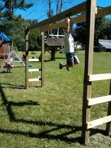 how to build monkey bars my 100 backyard design