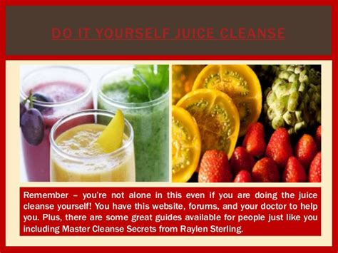 Do It Yourself Detox Juice Cleanse by 7 Day Juice Cleanse