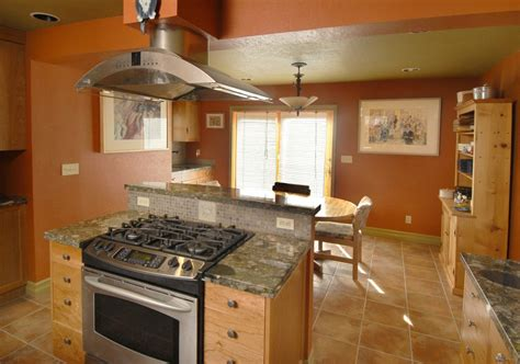 remarkable kitchen island stove oven with broan island mount range hood also oval oak pedestal