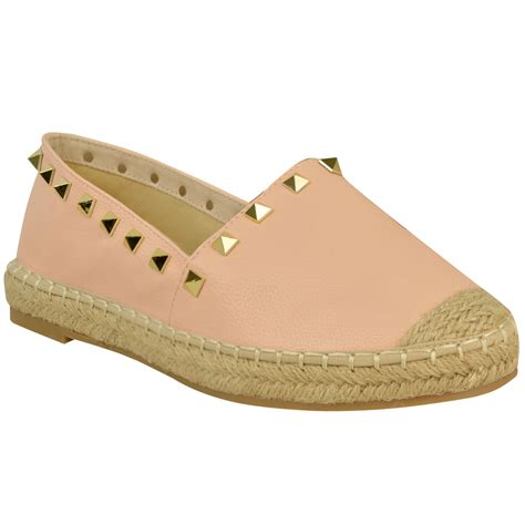 summer flats shoes womens studded espadrilles slip on flats summer