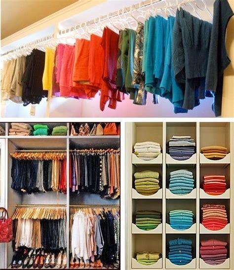 color coordinated closets home improvement