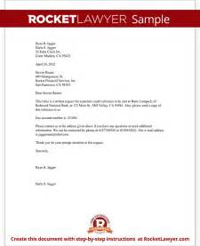 Reference Letter Template Request Letter To Request A Credit Reference Template With Sle