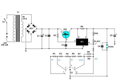 schema alimentatore stabilizzato alberto2000 elettronica