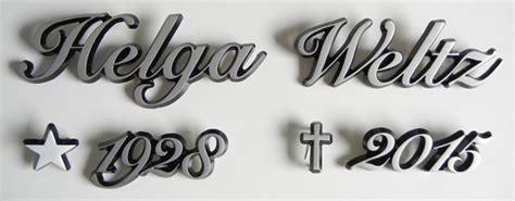 Klebebuchstaben Silber Schreibschrift by Grabsteinbeschriftung Grabbuchstaben
