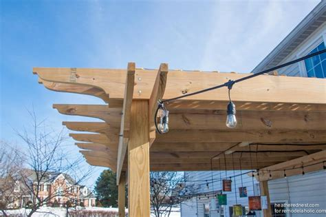 build a l shade remodelaholic diy pergola tutorial how to build your