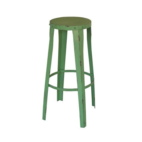 Green Stool by Green Metal Bar Stool