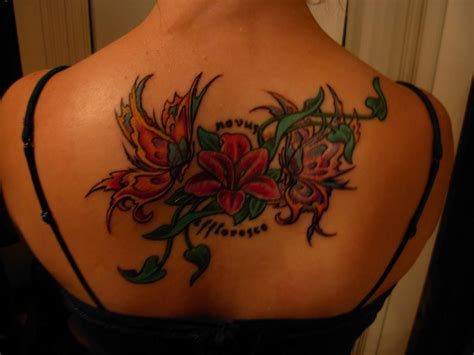 butterfly on flower tattoo designs flower butterfly tattoos tattoos to see