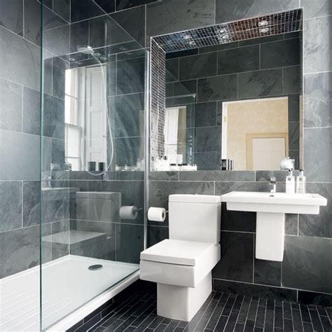Modern Bathrooms Uk Modern Charcoal Grey Bathroom Bathroom Designs Bathroom Ideal Home Housetohome Co Uk