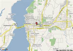 map of coast hotel kelowna