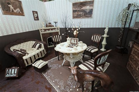 chocolate room chocolate room sculptor kliment creates lounge made entirely of confection photos huffpost