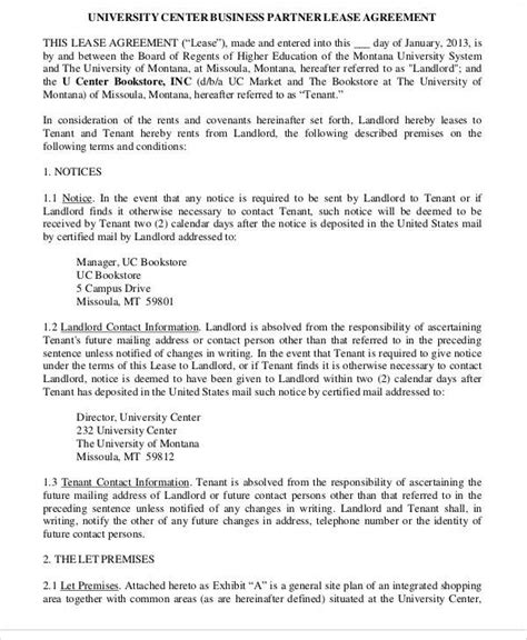 business lease agreement 49 lease agreements in pdf