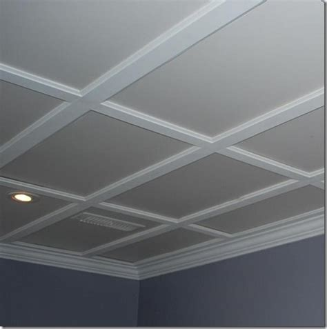 suspended ceiling that looks like a coffered ceiling