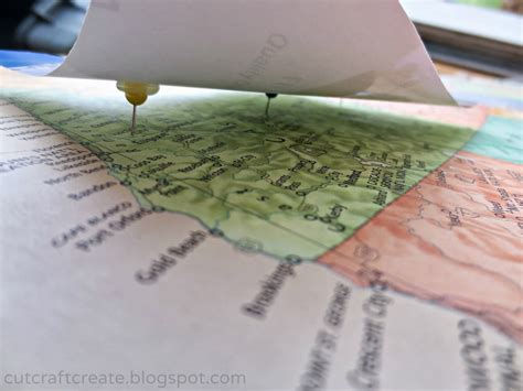 How To Make A Paper Map - cut craft create personalized photo map for our paper