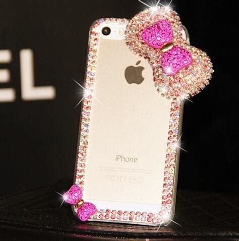 bling  big bow iphone  case shinning luxury diamond cell phone cases cover iphone