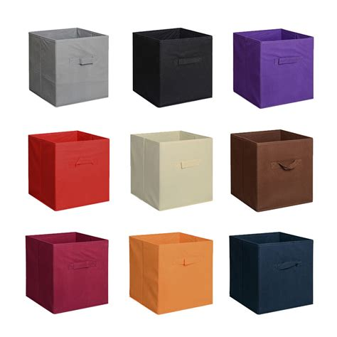Cube Drawers Storage by 6 Pieces Home Storage Bins Organizer Fabric Cube Boxes