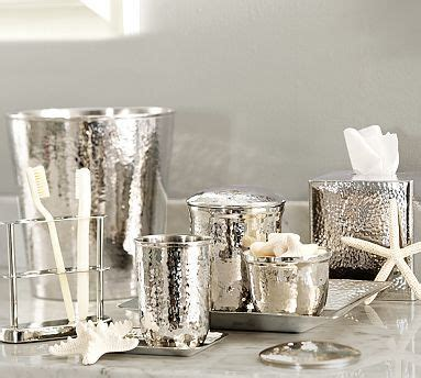 Pottery Barn Bathroom Hardware by Hammered Nickel Bath Accessories Toothbrush Holders