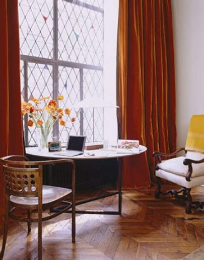 Pumpkin Colored Curtains Decorating The Barefoot Contessa At Home In Manhattan Hooked On Houses