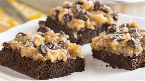 rich german chocolate brownies recipe bettycrocker com