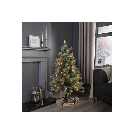 b q diy store pre lit trees 4ft fairview pre lit pre decorated tree departments diy at b q