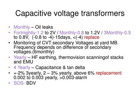capacitor voltage transformer testing capacitive voltage transformer testing procedure 28 images a report on 220 kv gss mansarovar
