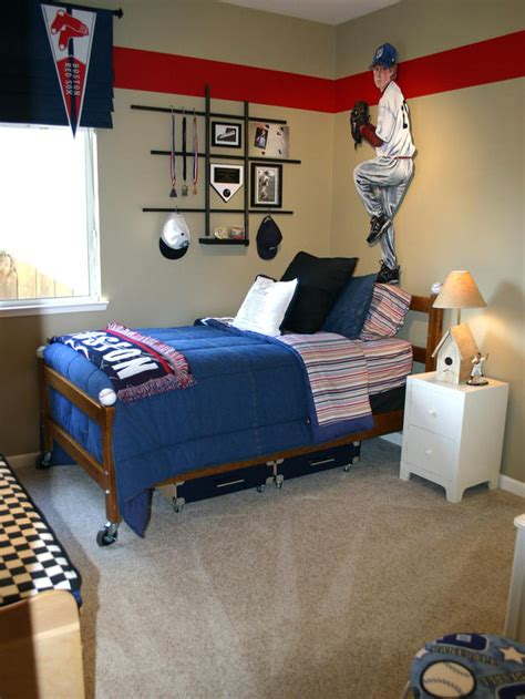 Boys Baseball Bedroom Ideas | prairie home therapy boy s room red and blue