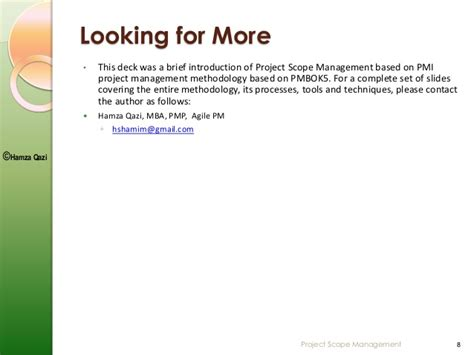 Mba In Media Management Scope by Project Scope Management