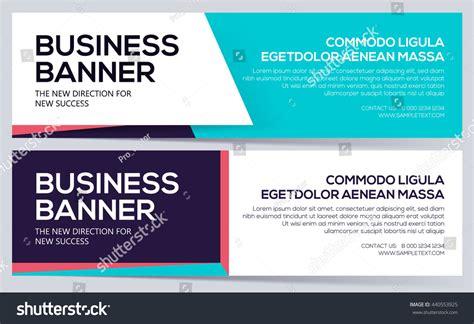 Business Banner Template Vector Business Banners Stock Vector 440553925 Shutterstock Business Header Template