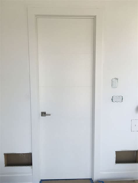 Modern White Interior Doors White Modern Interior Door With Horizontal Lines