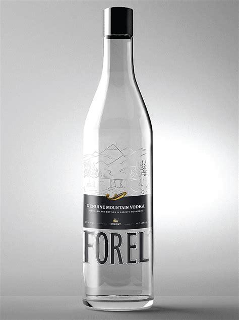 design vodka label тм forel vodka label design pioneer design studio