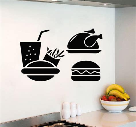 food wall stickers fast food stickers promotion shop for promotional fast food stickers on aliexpress