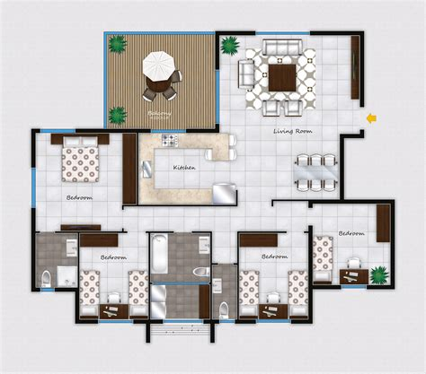 floor plan 2d 2d furniture floorplan top view style 3d model