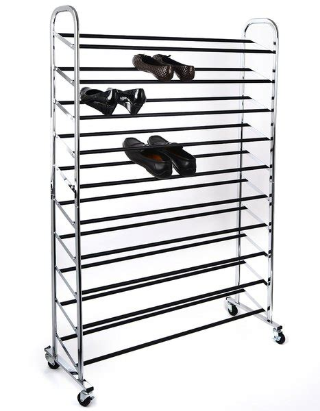 shoe storage 50 pairs home it shoe organizer shoe storage chrome supreme 50 pair