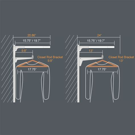 Standard Height For Closet Shelf And Pole by Closet Shelf Size