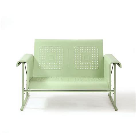 crosley bates sofa glider crosley furniture veranda loveseat glider in oasis green