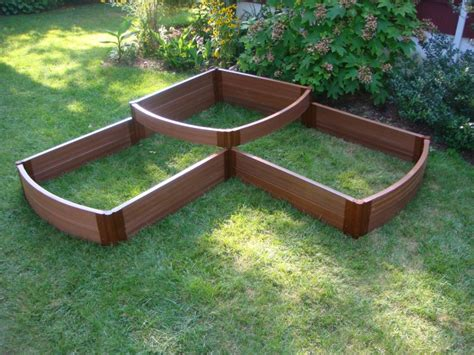 composite raised garden bed frame it all two inch series 98in x 98in x 22in composite split waterfall raised