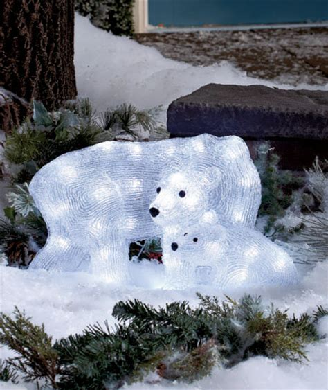 polar bear 32 led lighted christmas yard lawn outdoor