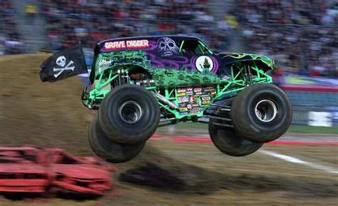 of grave digger truck car and driver