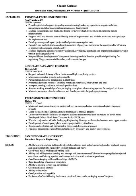packaging resume samples velvet jobs