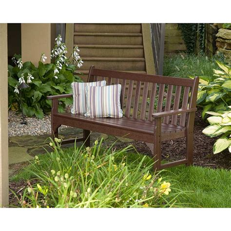 recycled garden benches polywood vineyard 60 inch bench maintenance free