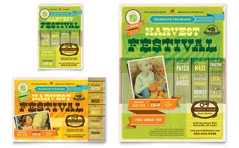 Festival Brochure Template by Harvest Festival Flyer Ad Template Design